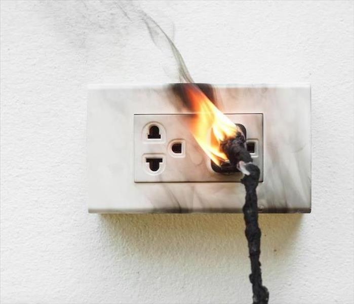 Fire Damage Old Kitchen Outlets Can Cause a Small Electrical Fire in Your Durham Home